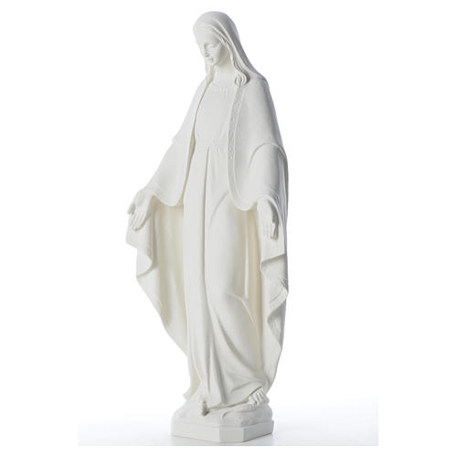 Our Lady of Miracles, 62 cm in reconstituted Carrara marble 6