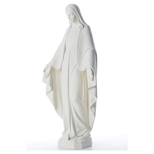 Our Lady of Miracles, 62 cm in reconstituted Carrara marble 2