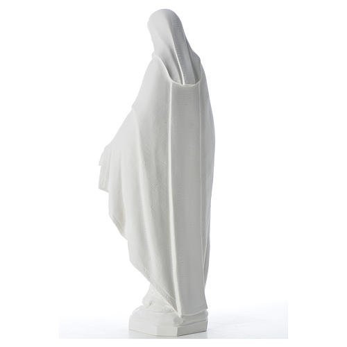 Our Lady of Miracles, 62 cm in reconstituted Carrara marble 3