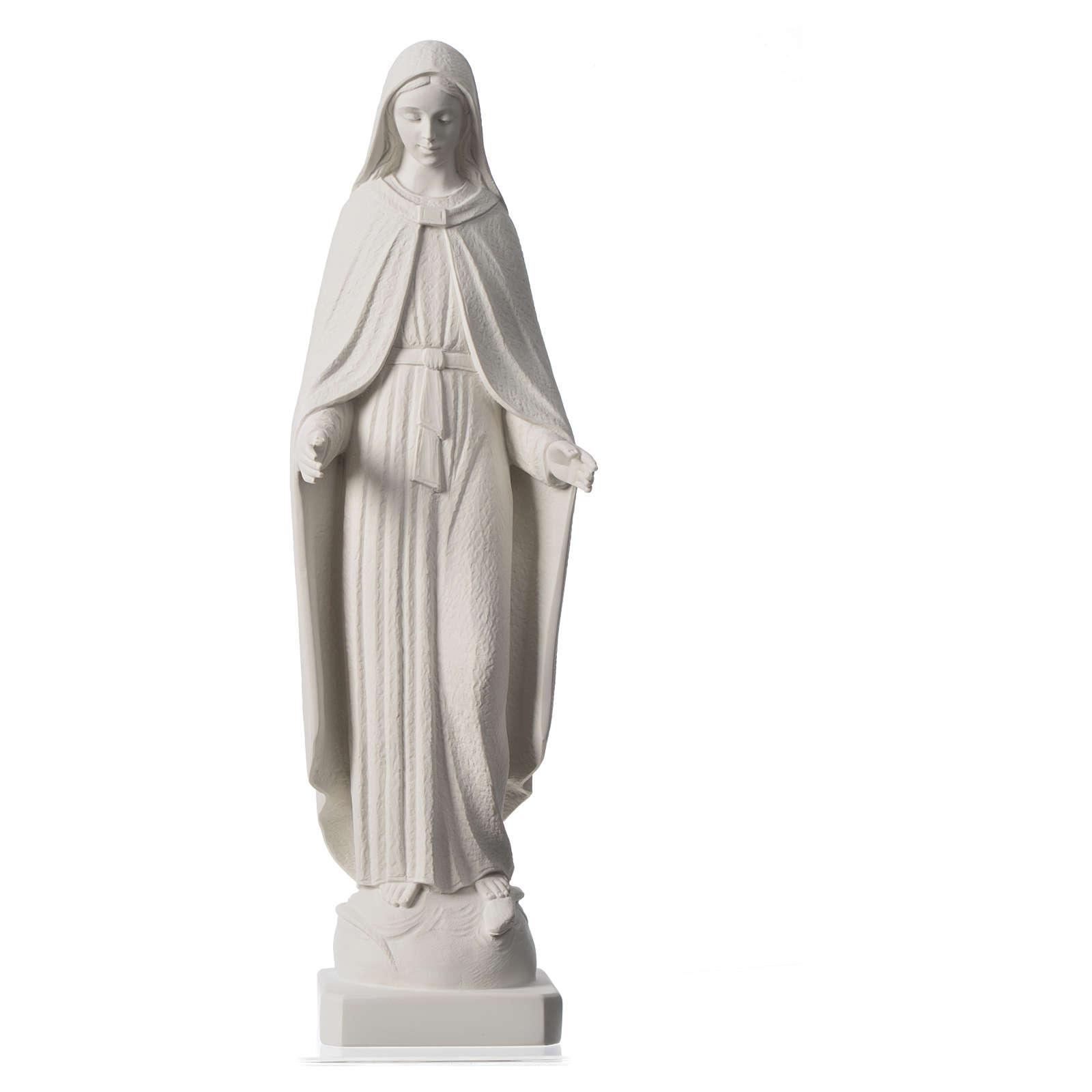 Madonna Miracolosa braccia strette 62 cm marmo bianco 4