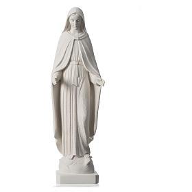 Madonna Miracolosa braccia strette 62 cm marmo bianco s5