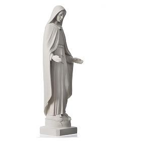 Madonna Miracolosa braccia strette 62 cm marmo bianco s6