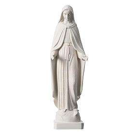 Madonna Miracolosa braccia strette 62 cm marmo bianco s1
