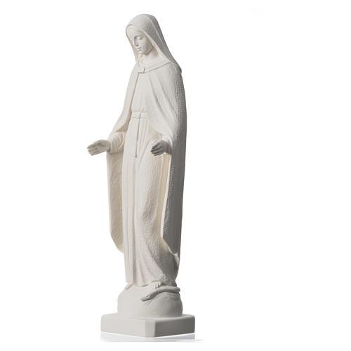 Madonna Miracolosa braccia strette 62 cm marmo bianco 7