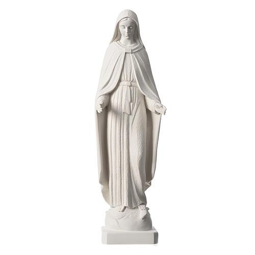 Madonna Miracolosa braccia strette 62 cm marmo bianco 1