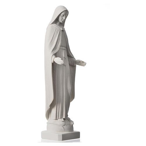 Madonna Miracolosa braccia strette 62 cm marmo bianco 2