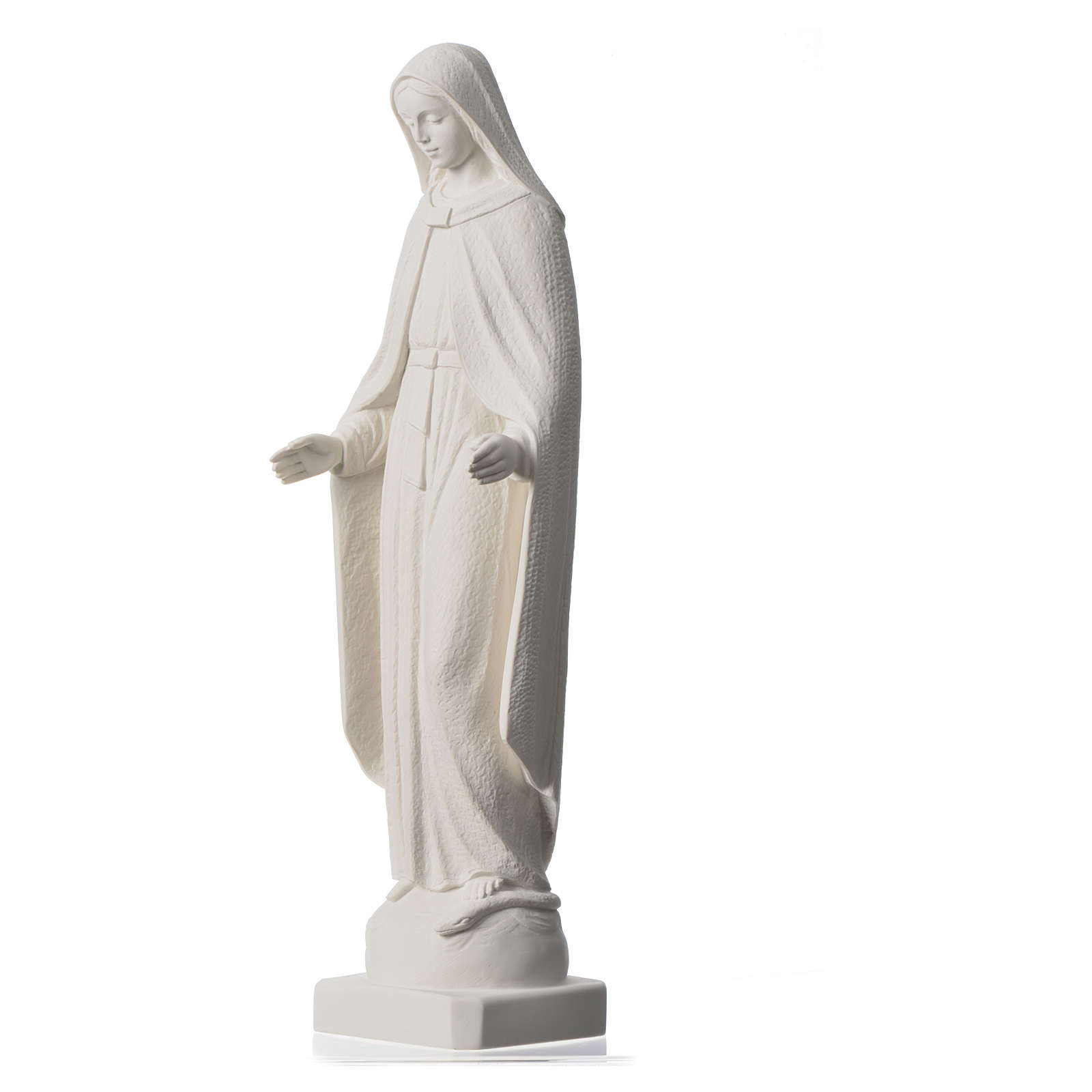 Our Lady of Miracles statue in reconstituted marble, 62 cm 4