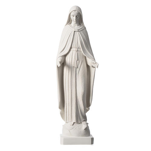 Our Lady of Miracles statue in reconstituted marble, 62 cm 2