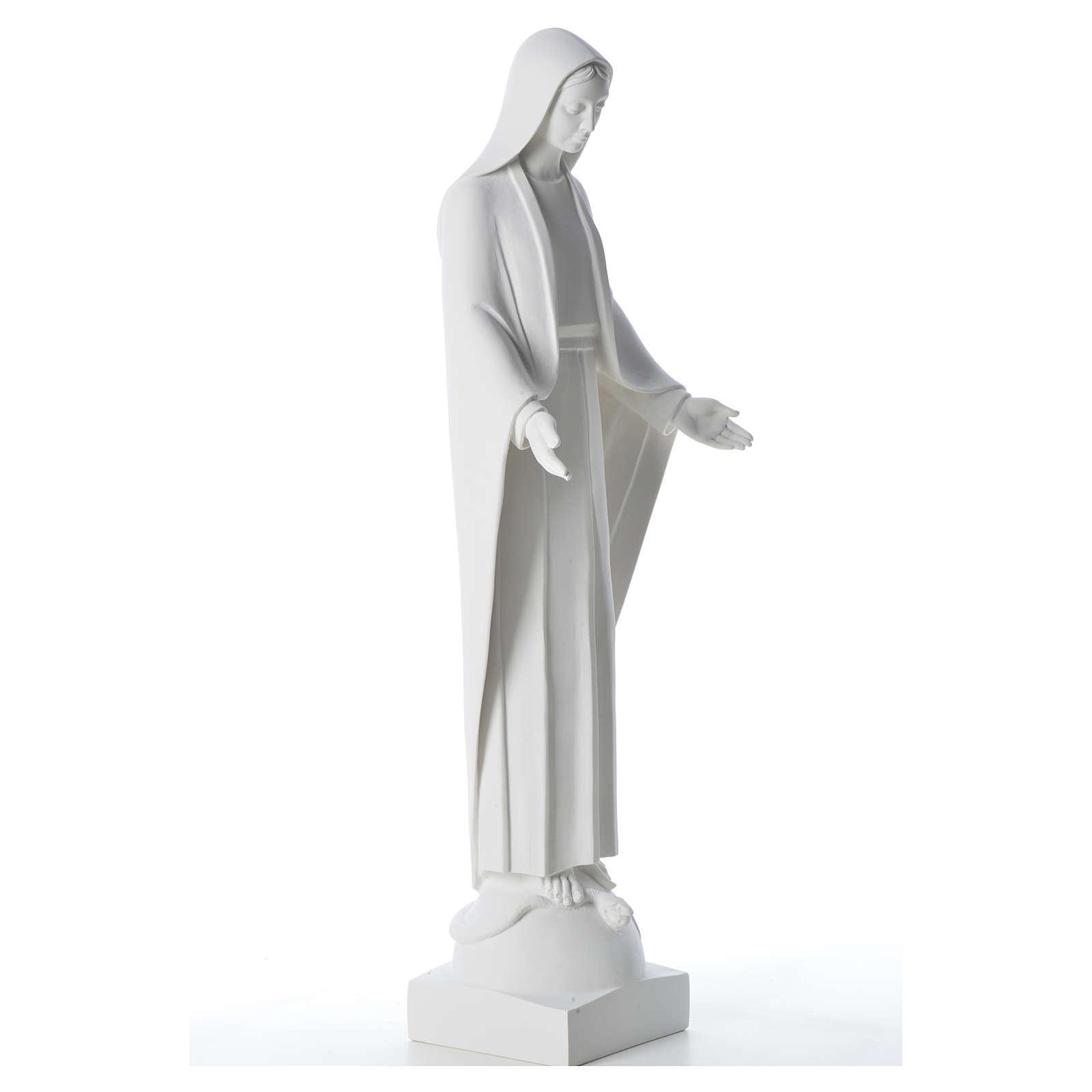 Statua Miracolosa polvere di marmo bianco 60-80 cm 4