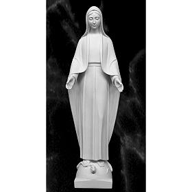 Our Lady of Miracles in reconstituted marble 60-80 cm s1