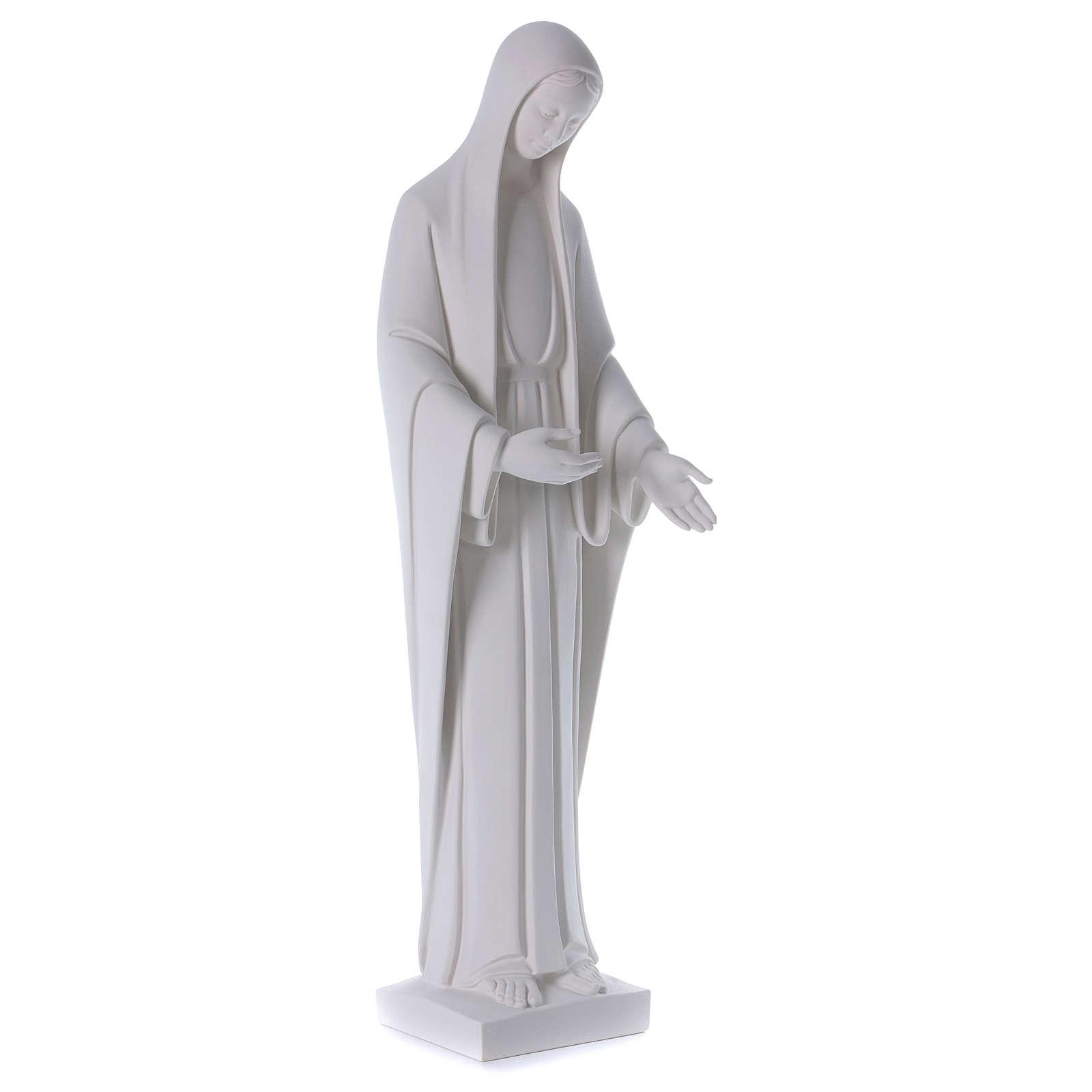 Statue Vierge Marie poudre de marbre blanc 60-80 cm 4