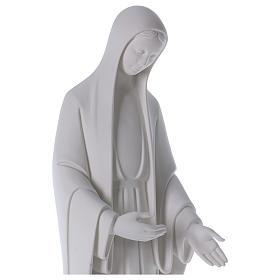 Statue Vierge Marie poudre de marbre blanc 60-80 cm s2