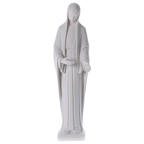Statue Vierge Marie poudre de marbre blanc 60-80 cm 1