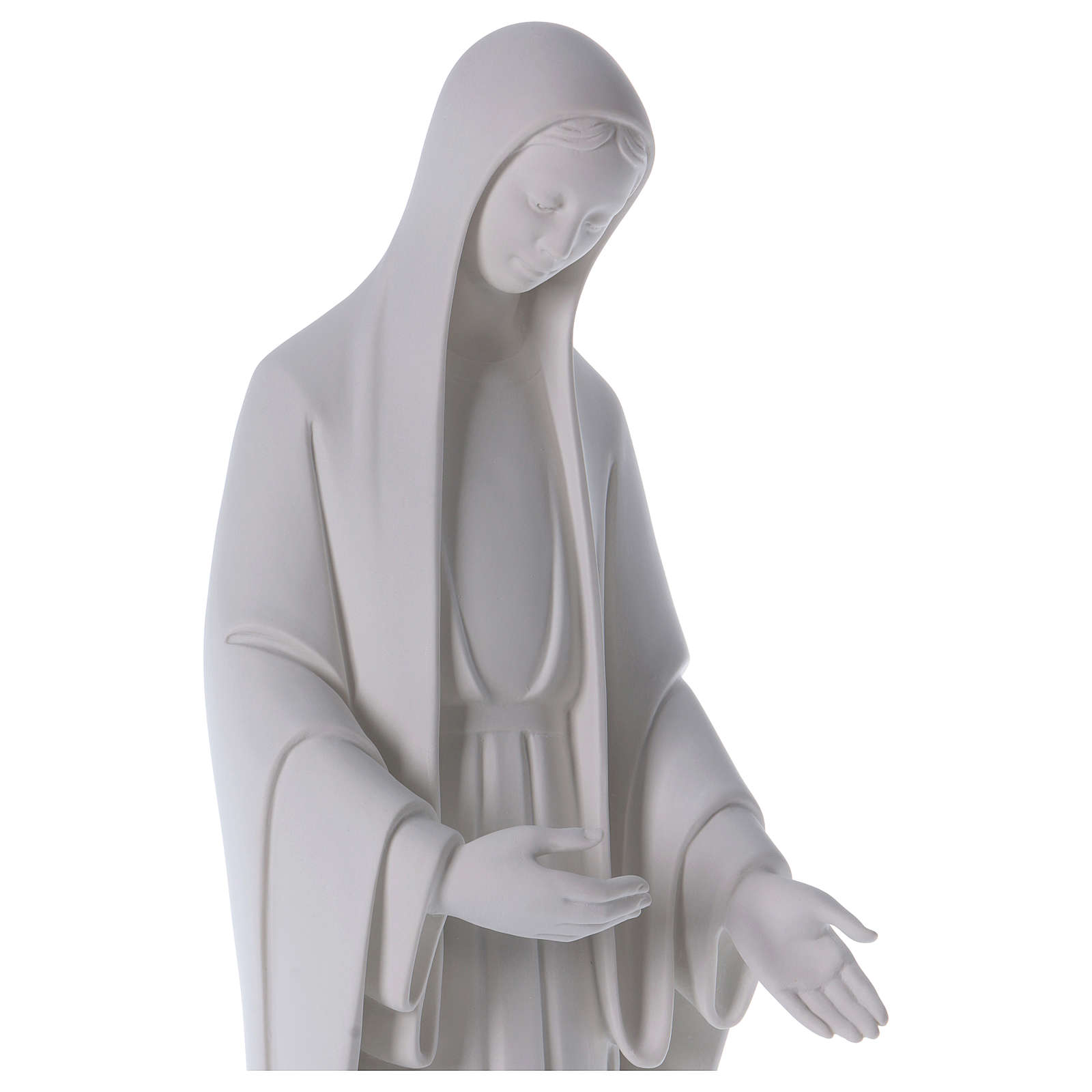 Our Lady of Miracles statue in reconstituted marble 60-80 cm 4