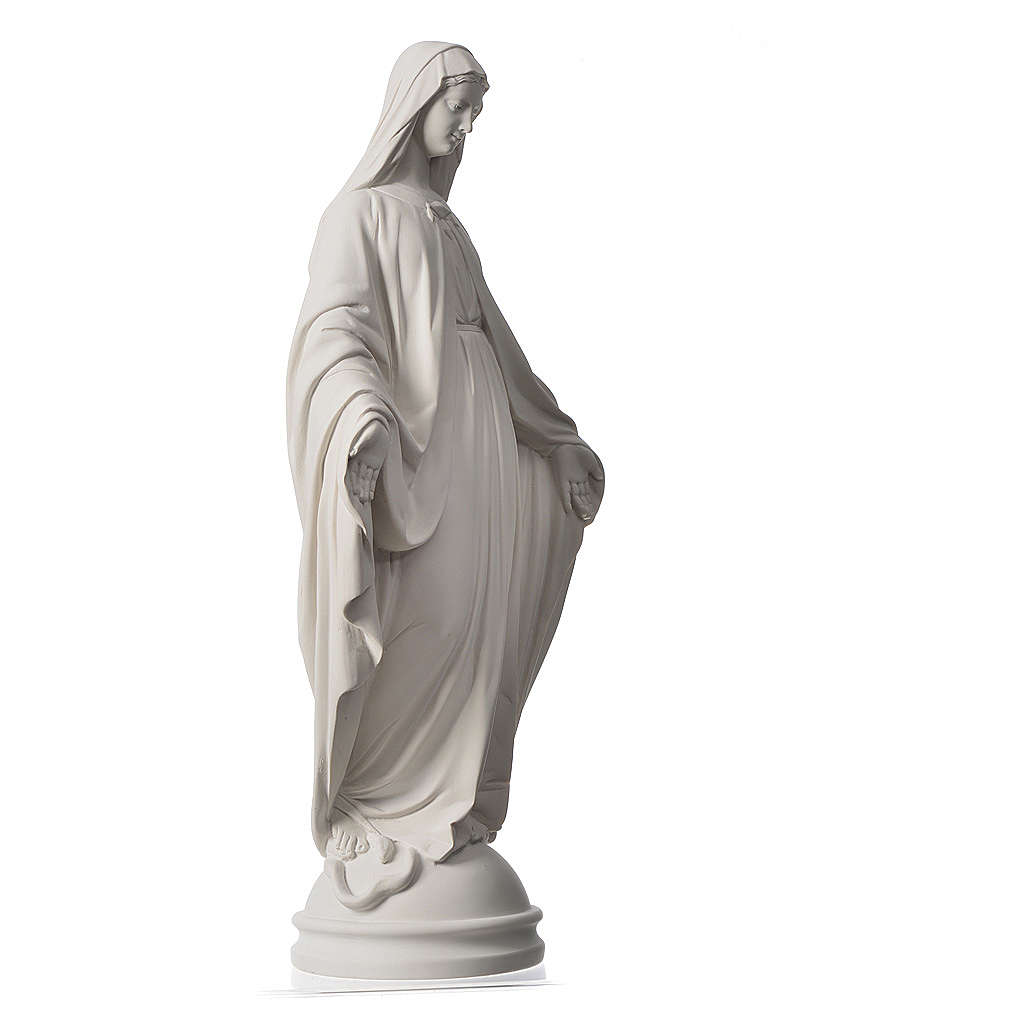 Virgen Milagrosa de 60cm polvo de mármol de Carrara 4