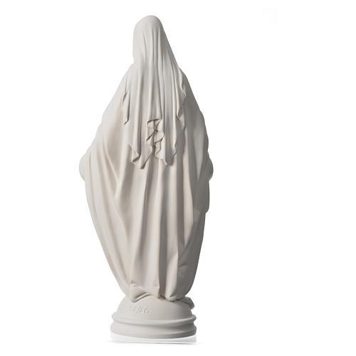 Virgen Milagrosa de 60cm polvo de mármol de Carrara 8