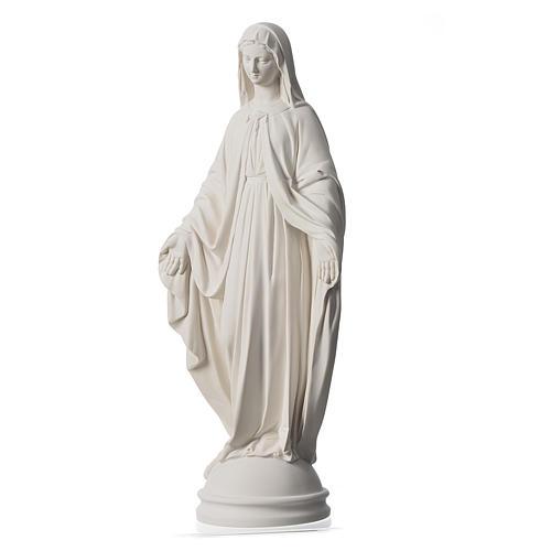 Virgen Milagrosa de 60cm polvo de mármol de Carrara 3