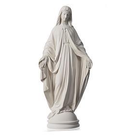 Madonna Miracolosa 60 cm polvere di marmo di Carrara s5