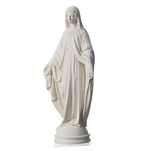 Madonna Miracolosa 60 cm polvere di marmo di Carrara 7