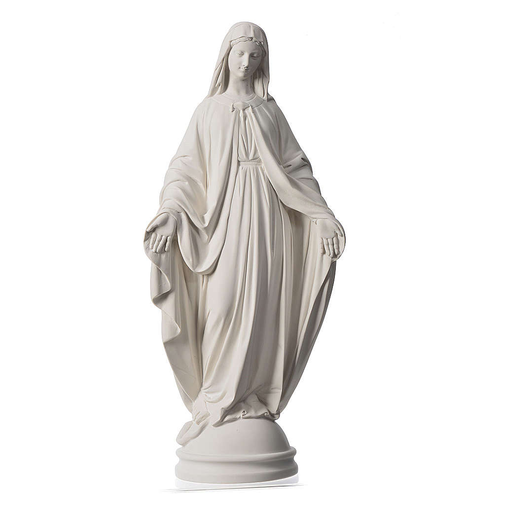 Our Lady of Miracles, 60 cm statue in reconstituted marble 4