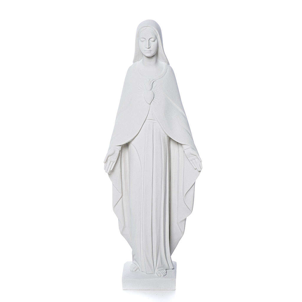 Our Lady statue in reconstituted carrara marble 36 cm 4