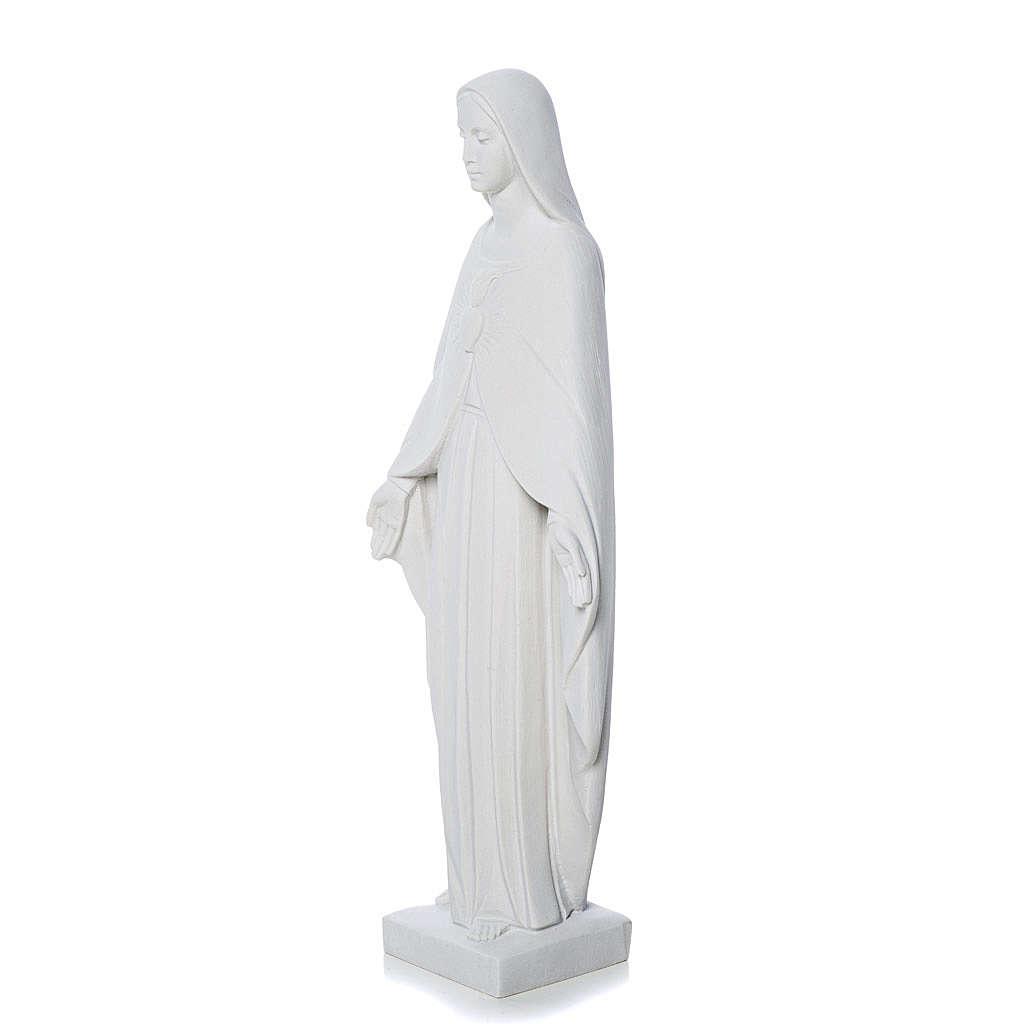 Statue Vierge Marie pour extérieur marbre  36 cm 4