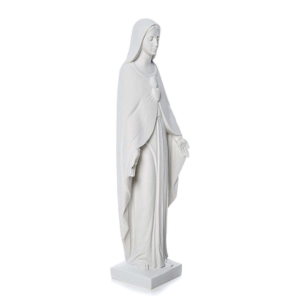 Statua Madonna 36 cm polvere di marmo bianco 4