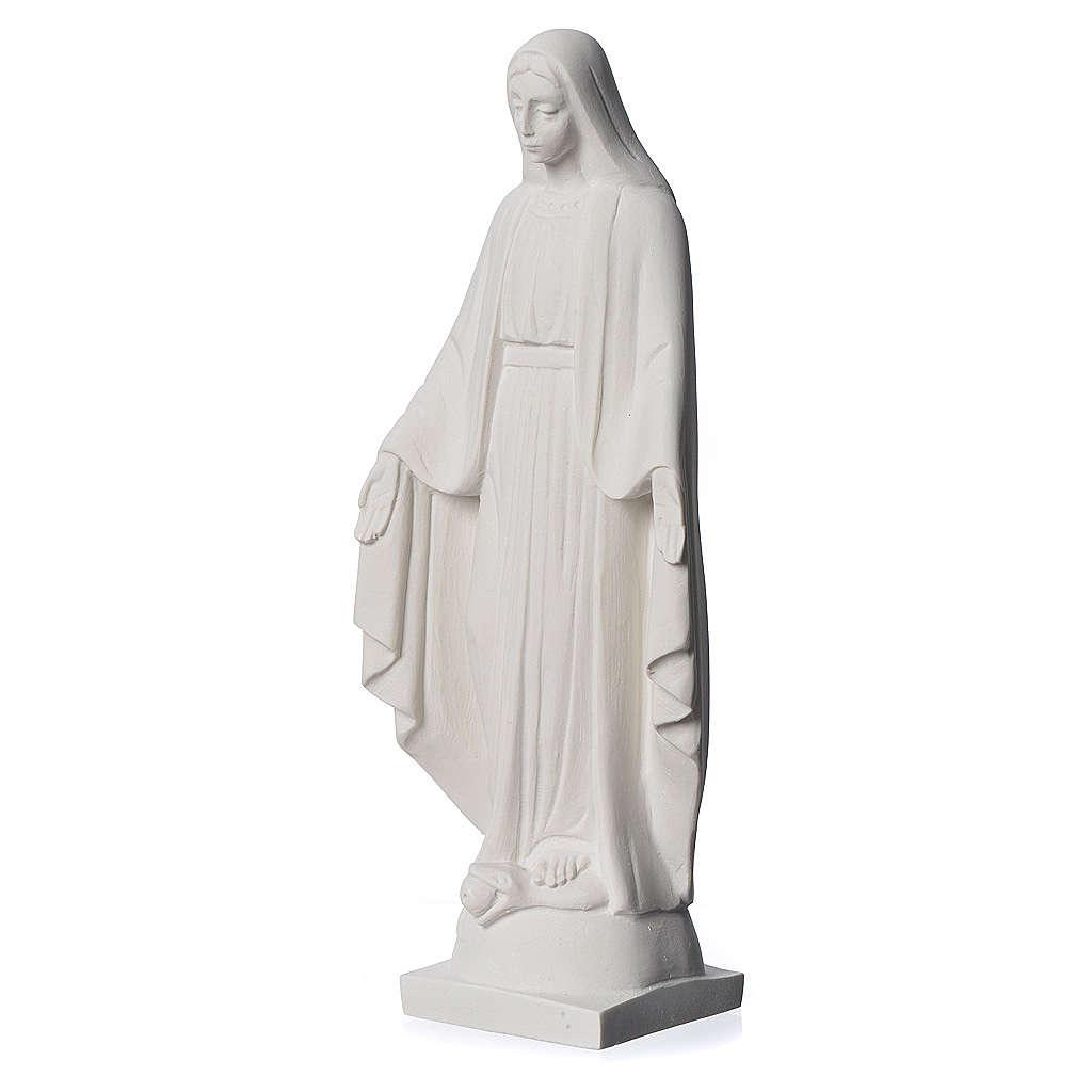 Virgen milagrosa en mármol sintético 25 cm 4