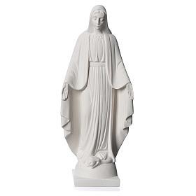 Virgen milagrosa en mármol sintético 25 cm s1