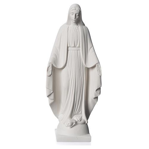 Virgen milagrosa en mármol sintético 25 cm 5