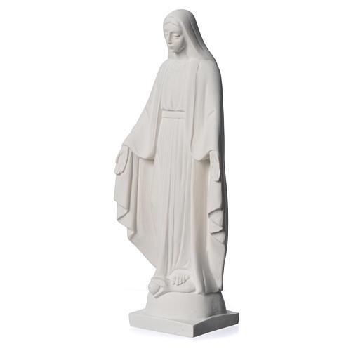 Virgen milagrosa en mármol sintético 25 cm 7