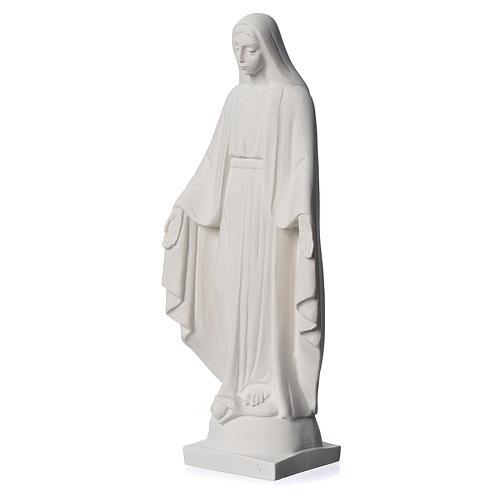 Virgen milagrosa en mármol sintético 25 cm 3