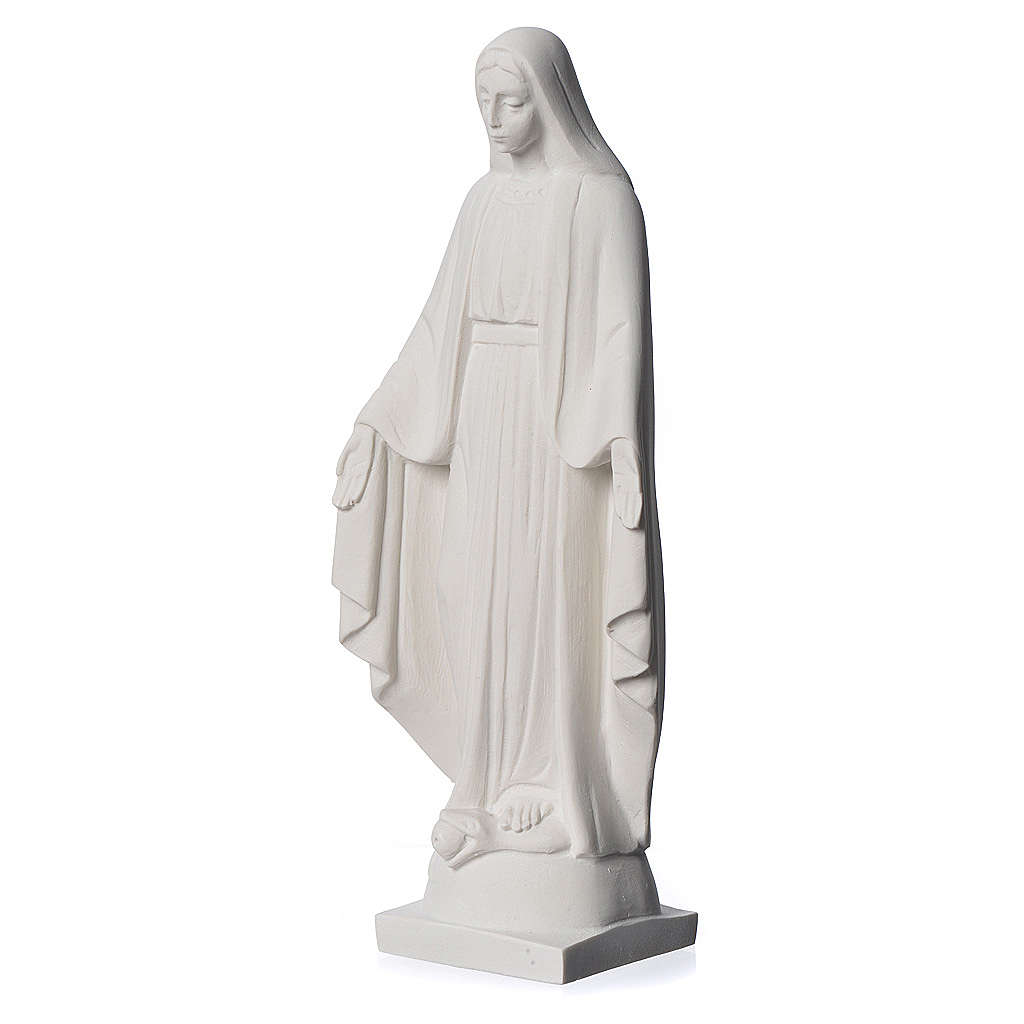 Our lady of Miracles statue made of reconstituted Carrara 25 cm 4