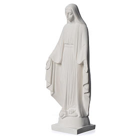 Our lady of Miracles statue made of reconstituted Carrara 25 cm s3