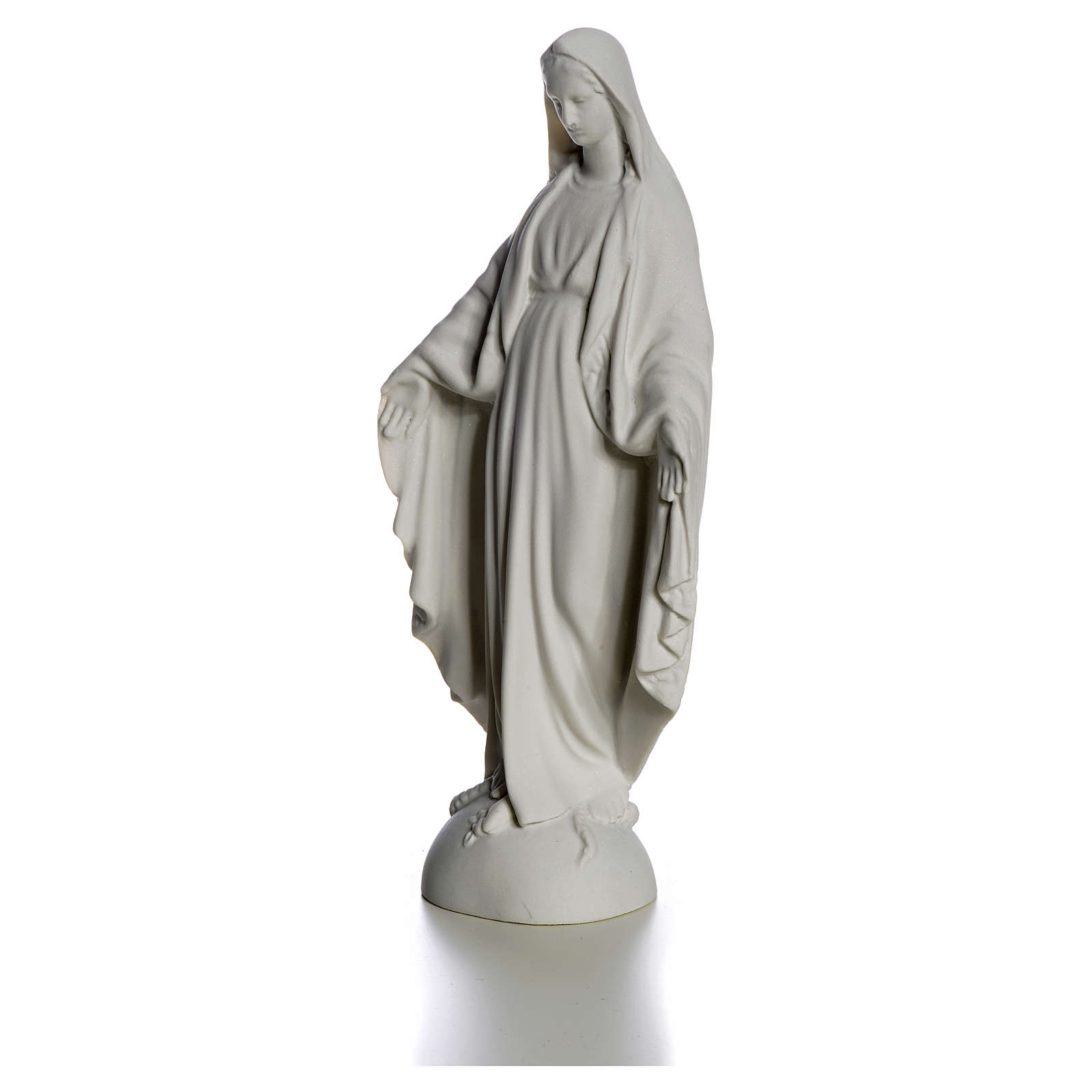 Our Lady over the world, statue in reconstituted carrara, 25 cm 4
