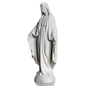 Our Lady over the world, statue in reconstituted carrara, 25 cm s2