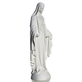Our Lady over the world, statue in reconstituted carrara, 25 cm s4