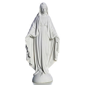 Statue Vierge Marie en marbre blanc 25 cm s1