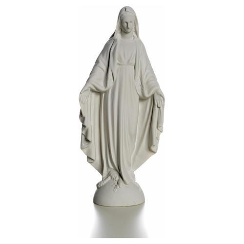 Statue Vierge Marie en marbre blanc 25 cm 5