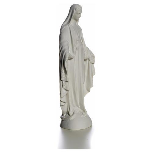 Statue Vierge Marie en marbre blanc 25 cm 8