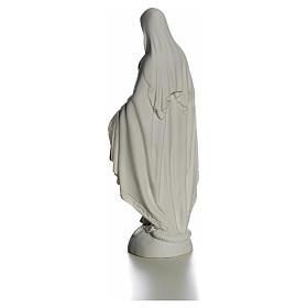 Madonna sul mondo 25 cm marmo bianco Carrara s7