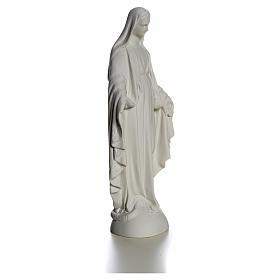 Madonna sul mondo 25 cm marmo bianco Carrara s8