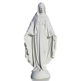 Madonna sul mondo 25 cm marmo bianco Carrara s1