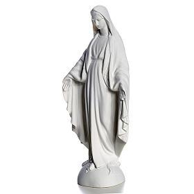 Madonna sul mondo 25 cm marmo bianco Carrara s2