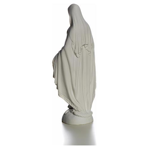 Madonna sul mondo 25 cm marmo bianco Carrara 7