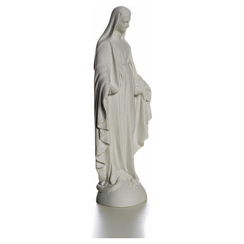 Madonna sul mondo 25 cm marmo bianco Carrara 8