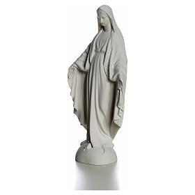 Virgem em cima do mundo 25 cm mármore branco Carrara s6