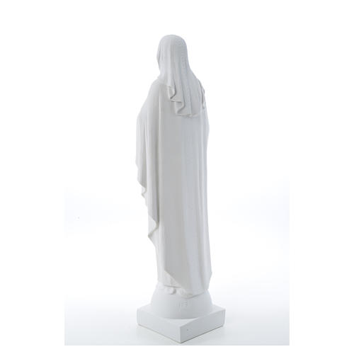 Our Lady with hand over heart, 79 cm reconstituted marble statue 18