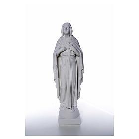 Virgen con las manos en el corazón 79cm, mármol s5
