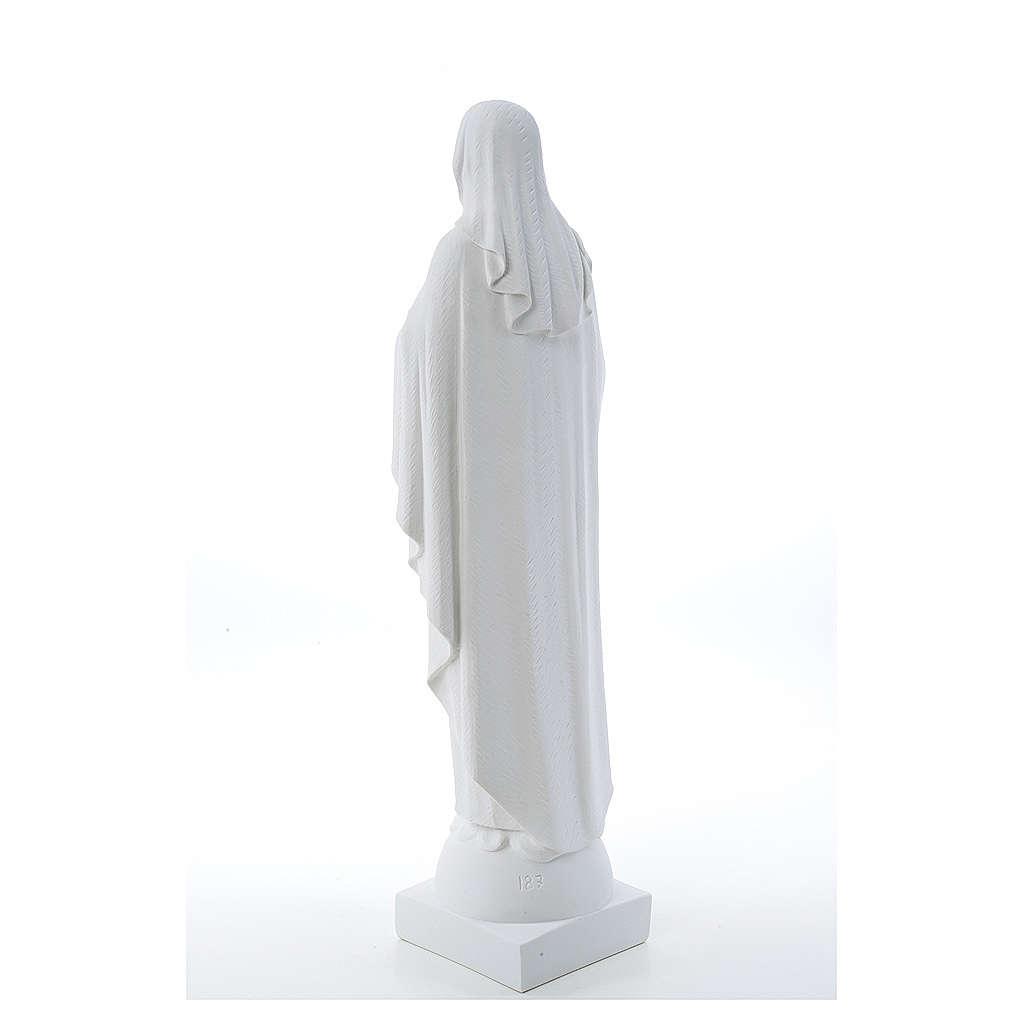 Statue Vierge Marie en marbre blanc 79 cm 4